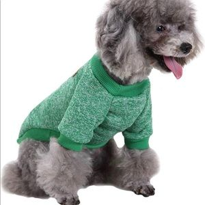 Other - Green Sweater for Small Dogs